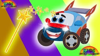 Funny Sport Car learn colors with Police Car superhero Superman cars