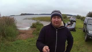 Троллинг с лодки на водохранилище В последний день лета
