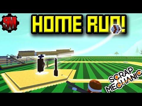 BASEBALL HOME RUN DERBY! - Scrap Mechanic Multiplayer Monday Ep14