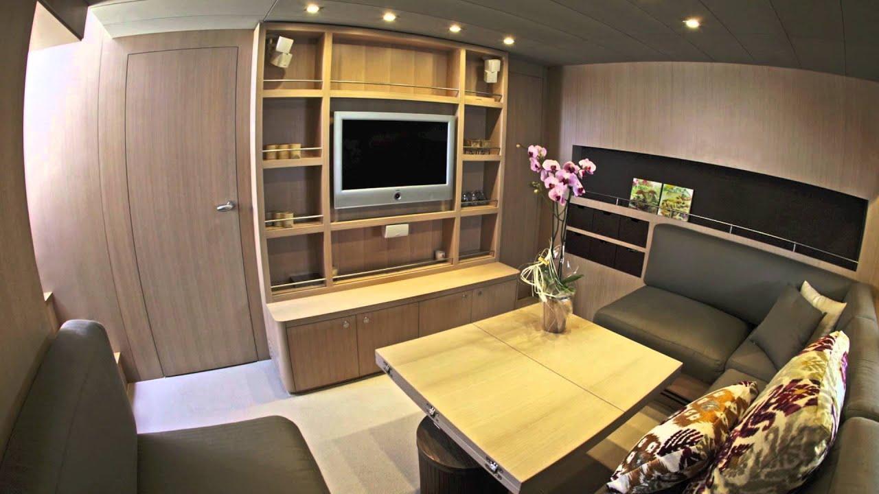 complete yacht interior refit in white oak finish