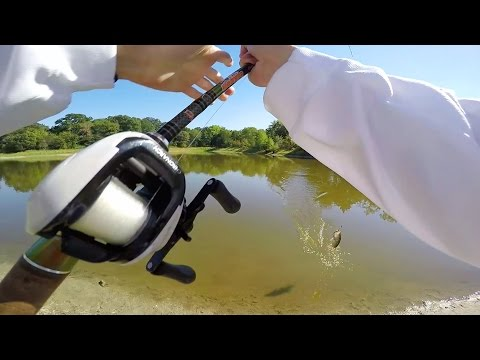 Bass Fishing with BIG Worms