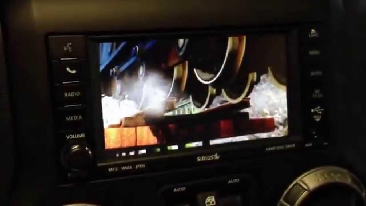 2012 Jeep Wrangler 430N RHB navigational DVD playback