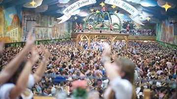 Oktoberfest Wiesn Beerfest München 2014 Hacker Pschorr Festzelt Finale