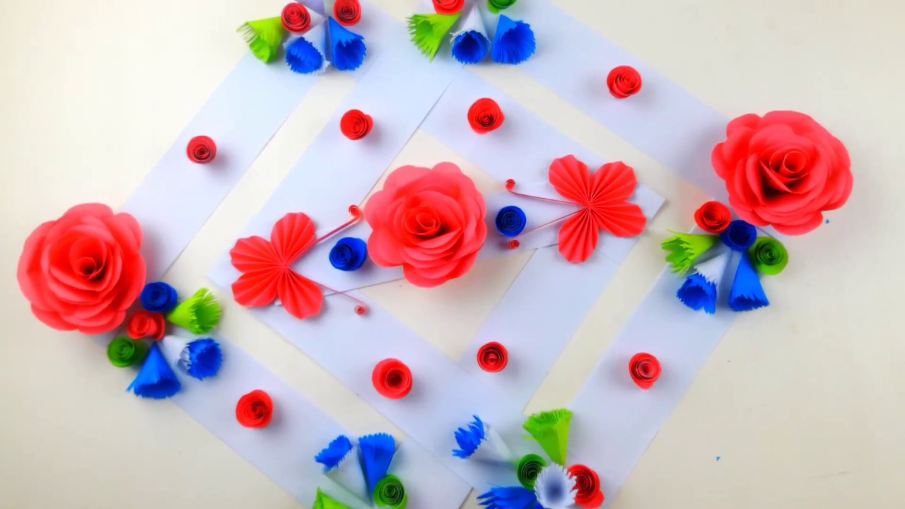 Paper Flower Wall Hanging Home Decoration Idea Wall