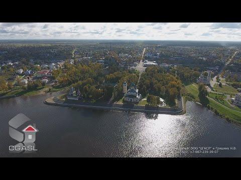 Аэросъемка города Углич (панорама)