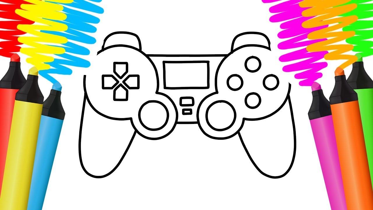 Como Desenhar E Colorir Um Controlador De Jogo Morangos E