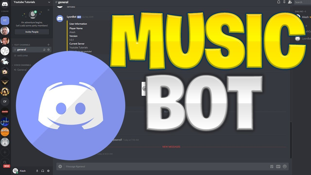 Make Your Own Discord Bot Music Bot Play Skip Stop Commands Youtube