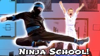 BACK TO NINJA SCHOOL! ft Ninja Kidz TV - SuperHeroKids Hope and Noah SHK Comic