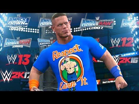 A visual History of JOHN CENA in WWE Games! 2003-2017