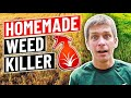 How to make homemade weed killer...vinegar, dish soap, salt
