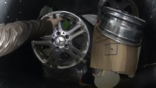 Мои находки в мусорных баках! Литые диски mercedes! Телевизор! Монитор! И многое другое!