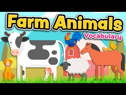 FARM ANIMALS in English for kids