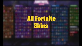 NEW FORTNITE EVERY SINGLE SKIN IN THE GAME SHOWCASE ALL SKINS IN FORTNITE SHOWCASE LEGENDARY,EPIC!