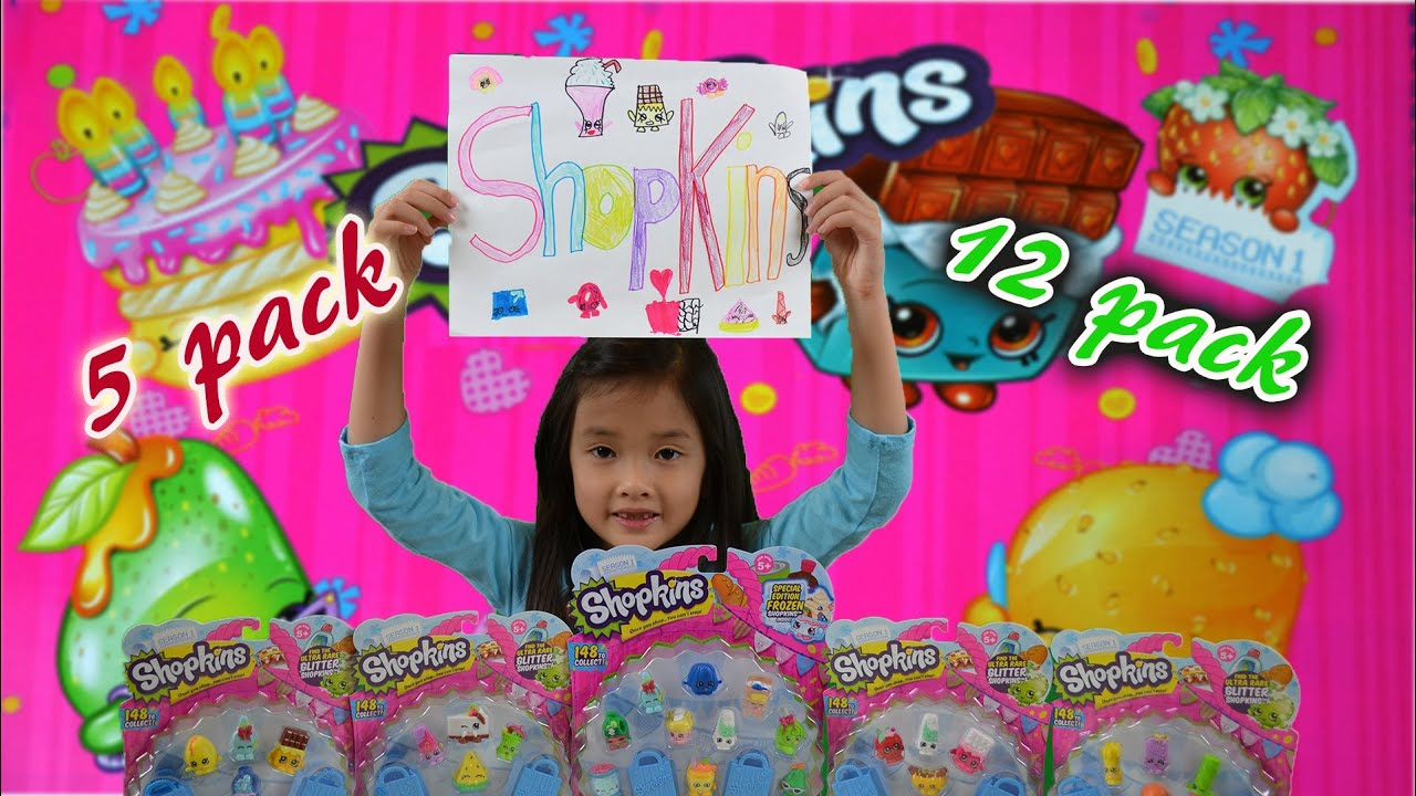 Shopkins Season 1 | 5 packs and 12 packs Opening | EP3 - YouTube