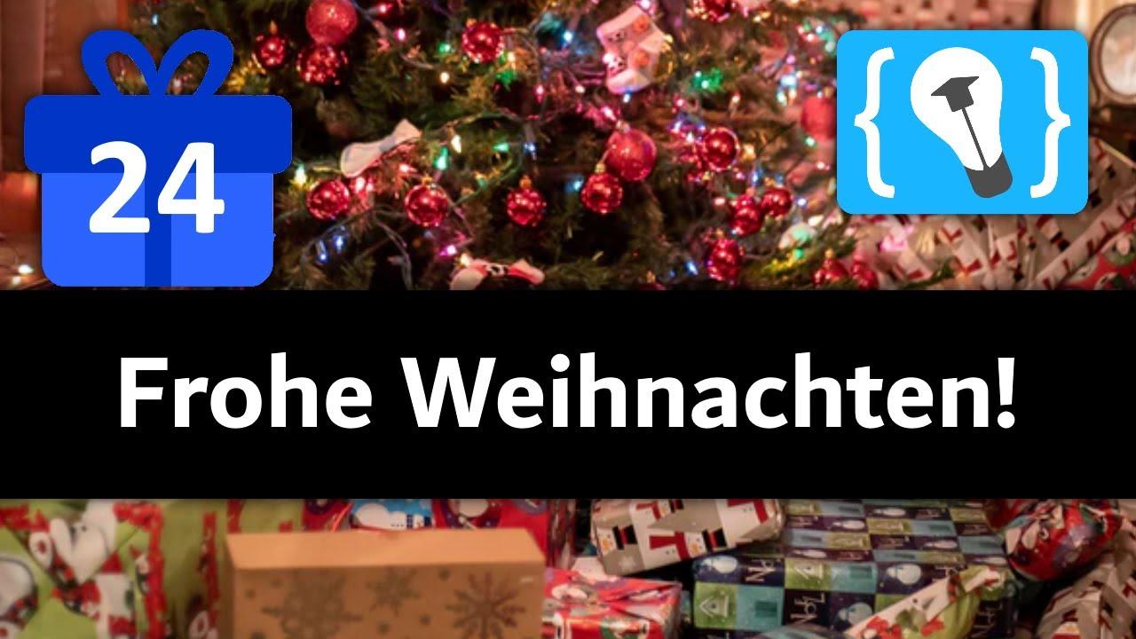 Frohe Weihnachten! - Programmieren Starten Adventskalender (Türchen 24)