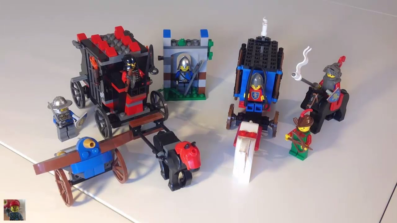 Lego Castle Gold Getaway 70401 And Dungeon Hunters 6042 Comparison Drawbridge Defense 7079