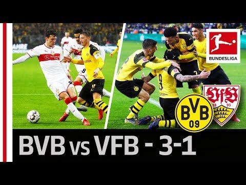 Borussia Dortmund vs. VfB Stuttgart I 3-1 I Reus, Alcacer and Pulisic Score in Late Victory