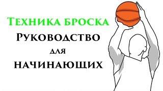 Техника броска в баскетболе (РУКОВОДСТВО ДЛЯ НАЧИНАЮЩИХ)