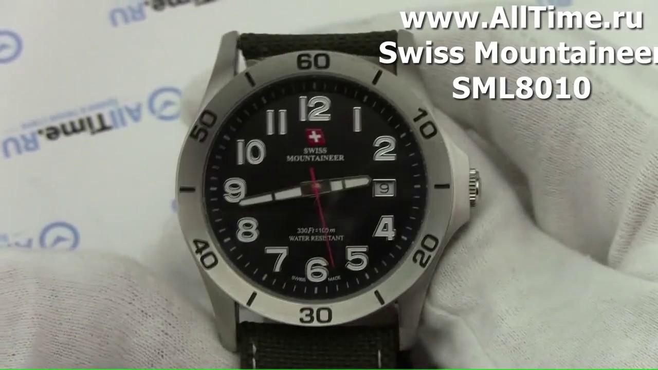 be745d757f2 Обзор. Мужские наручные часы Swiss Mountaineer SML8010 - YouTube