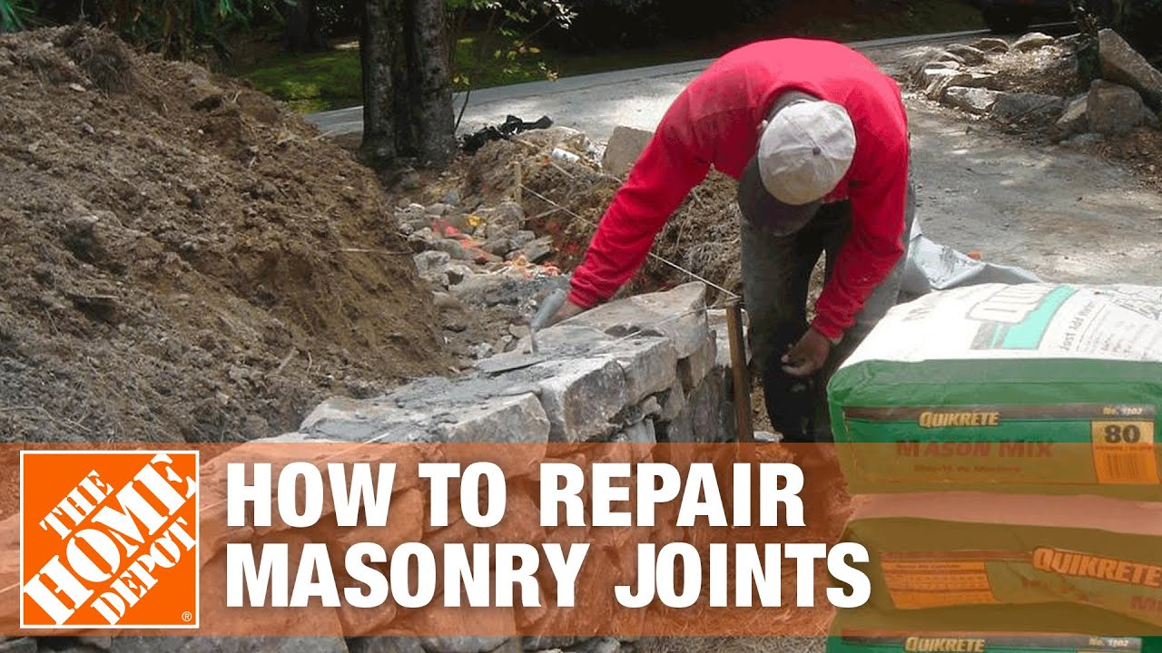 How To Repair Masonry Joints With Sakrete S Type Mortar