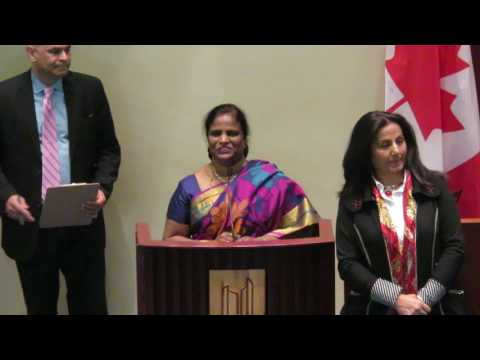Jeyaseeli Inpanayagam (Ambika Jewellers) receives DD Woman Achiever Award -March 18, 2017, Toronto