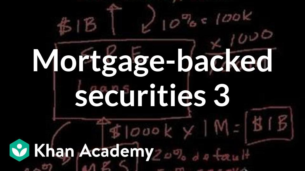 Mortgage-backed securities III | Finance & Capital Markets | Khan Academy