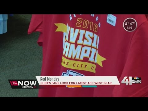 Chiefs fans get decked out in AFC West gear