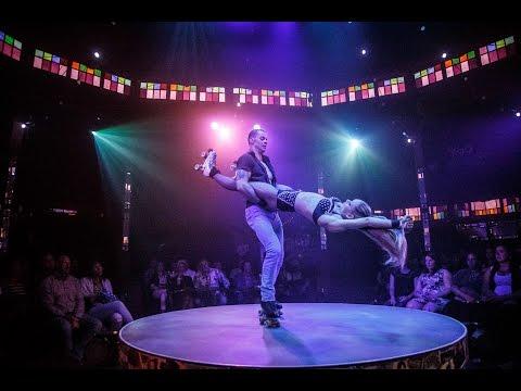 Наши акробаты на роликах в американском кабаре-шоу Империя