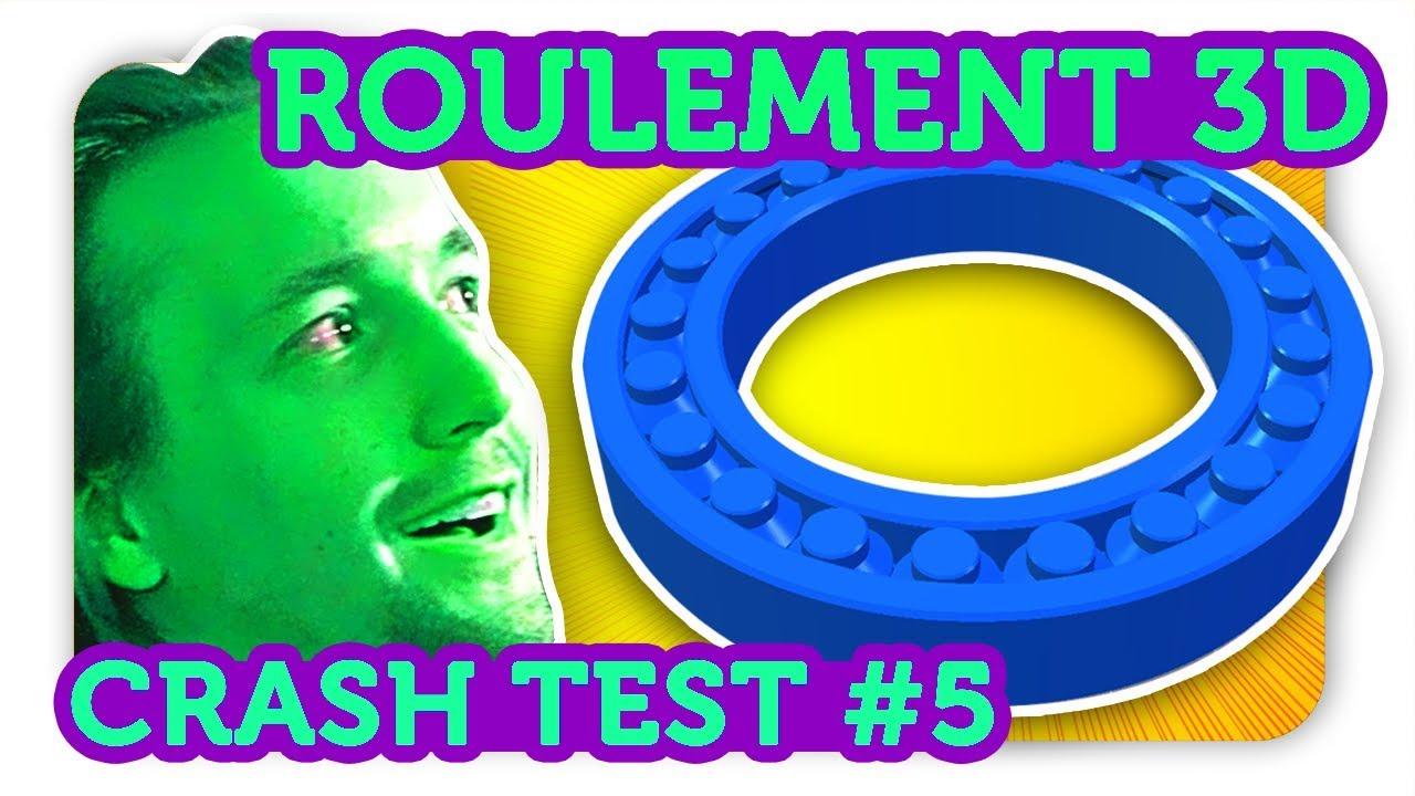 roulement a billes 3d !! crash test impression 3d - youtube