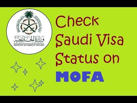 CHECK MOFA Saudi VISA STATUS