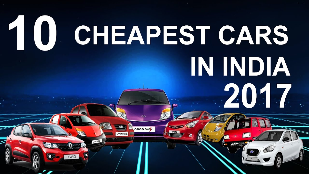 10 Best Cheapest Car In India in 2017 - YouTube
