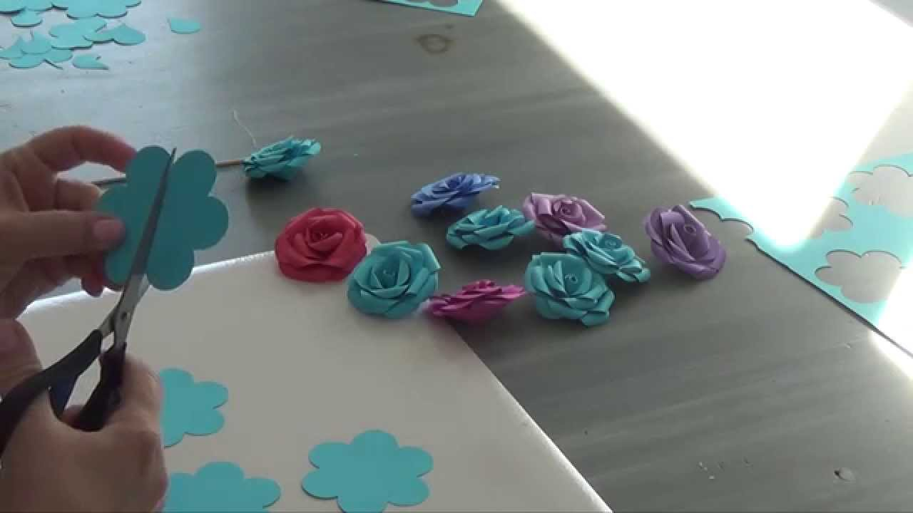 Tutoriel Mini Rose En Papier Youtube