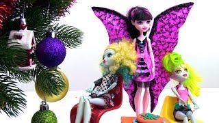 Новый Год с куклами Монстер Хай. Идеи для кукол - Мультики для девочек