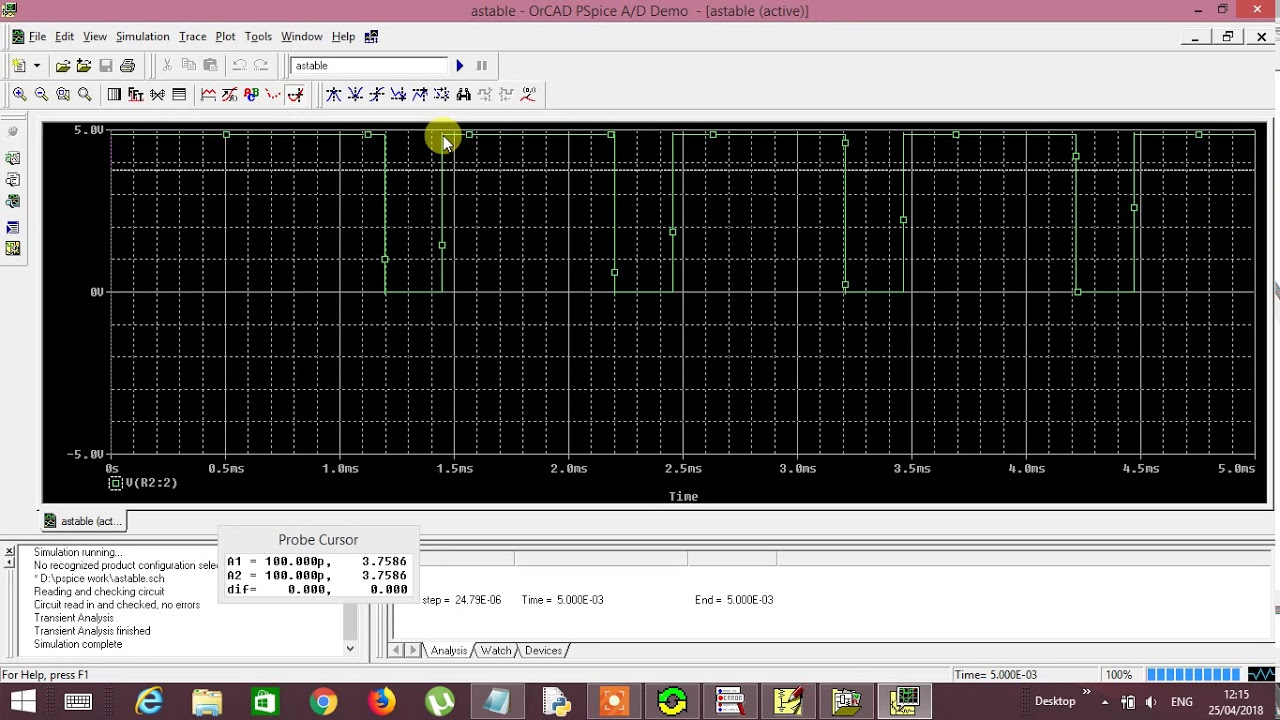Astable Multivibrator For 75 Duty Cycle Using Ic 555 Youtube Operation Of Mode Timer