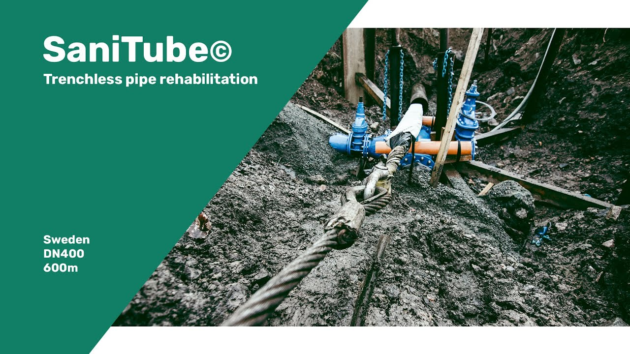 Sanitube© rehabilitates 600 meter drinking water pipeline in Sweden