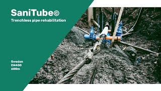 Sanitube© rehabilitates 600 meter drinking water pipeline in Sweden