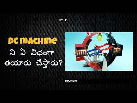 DC Machine construction II ET-2 TELUGU II INDIANET