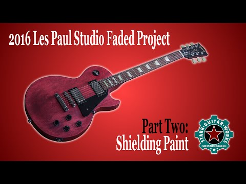 2016 Gibson Les Paul Studio Faded Project Part Two: Shielding Paint