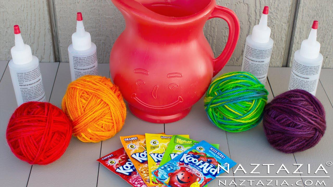3a4f396e4053 DIY Learn How To Hand Paint Dye Yarn with Kool Aid Easy Tutorial ...