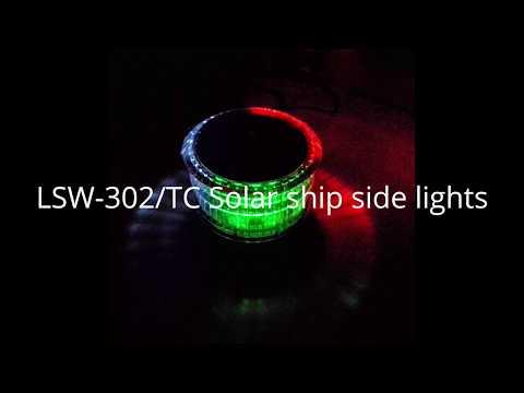 Solar marine lights boat light Solar ship side lights solar finshing lamps