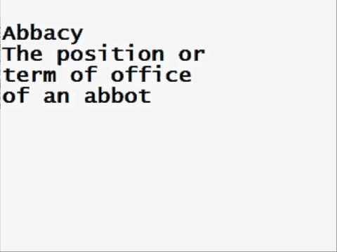 Header of abbacy