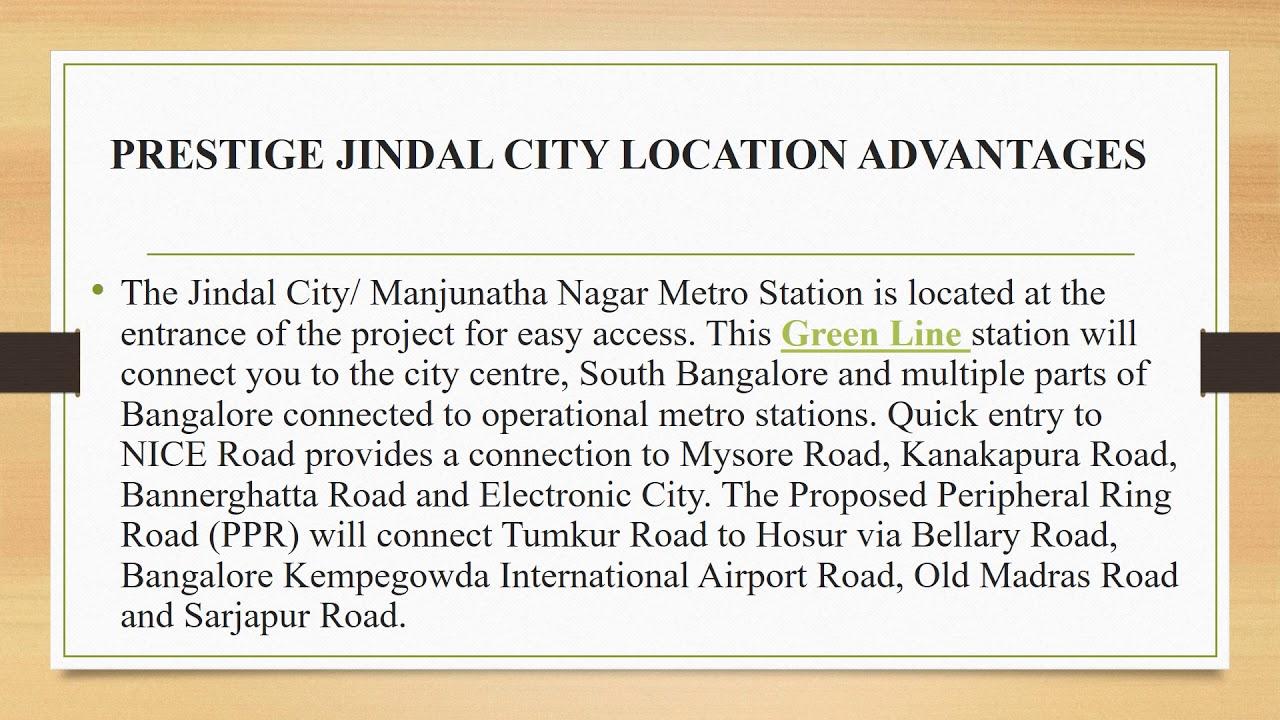 Prestige Jindal City @http://www.prestigejindal.in