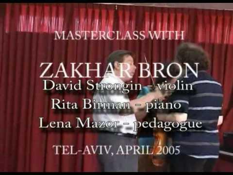 Ch. De Beriot - Scene De Ballet. Masterclass with Prof. Zakhar Bron
