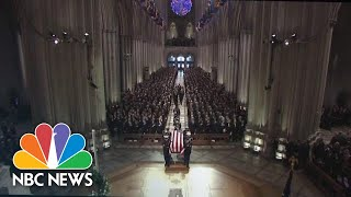 Former President George H.W. Bush's Casket Enters National Cathedral For Funeral Service | NBC News