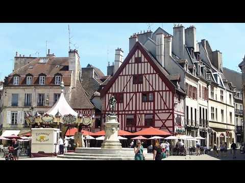 Tour of Downtown Dijon - Capital city of Burgundy region, France Pt.1