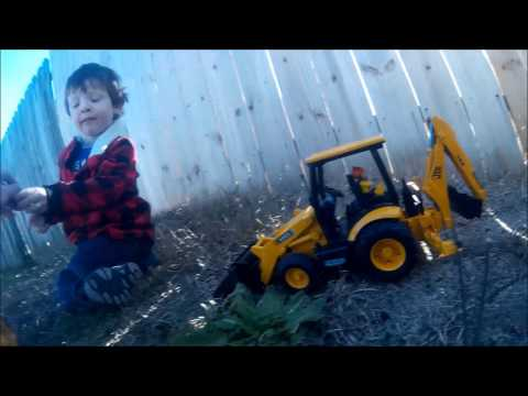 Outside with Burder construction equipment