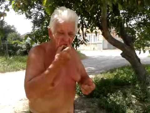 Дед 76 лет грызет абрикосовые косточки как семечки (СМОТРЕТЬ ДО КОНЦА)