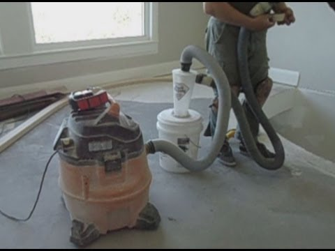 How to set up concrete floor grinding tools vacuum dust for Best vacuum for cement floors