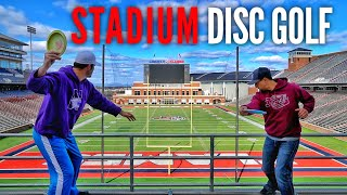 Disc Golf in a College Stadium | Smith, McBeth, Foundation Disc Golf, Hannah McBeth