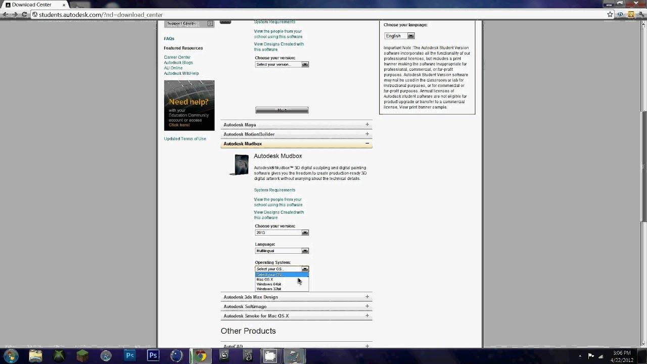 How to get autodesk 3ds max, maya, mudbox 2013 free